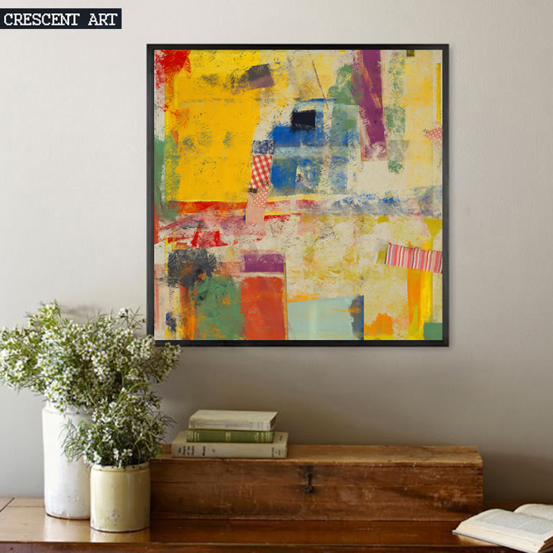 Colorful Abastract Graffiti Cotton Canvas Oil Painting