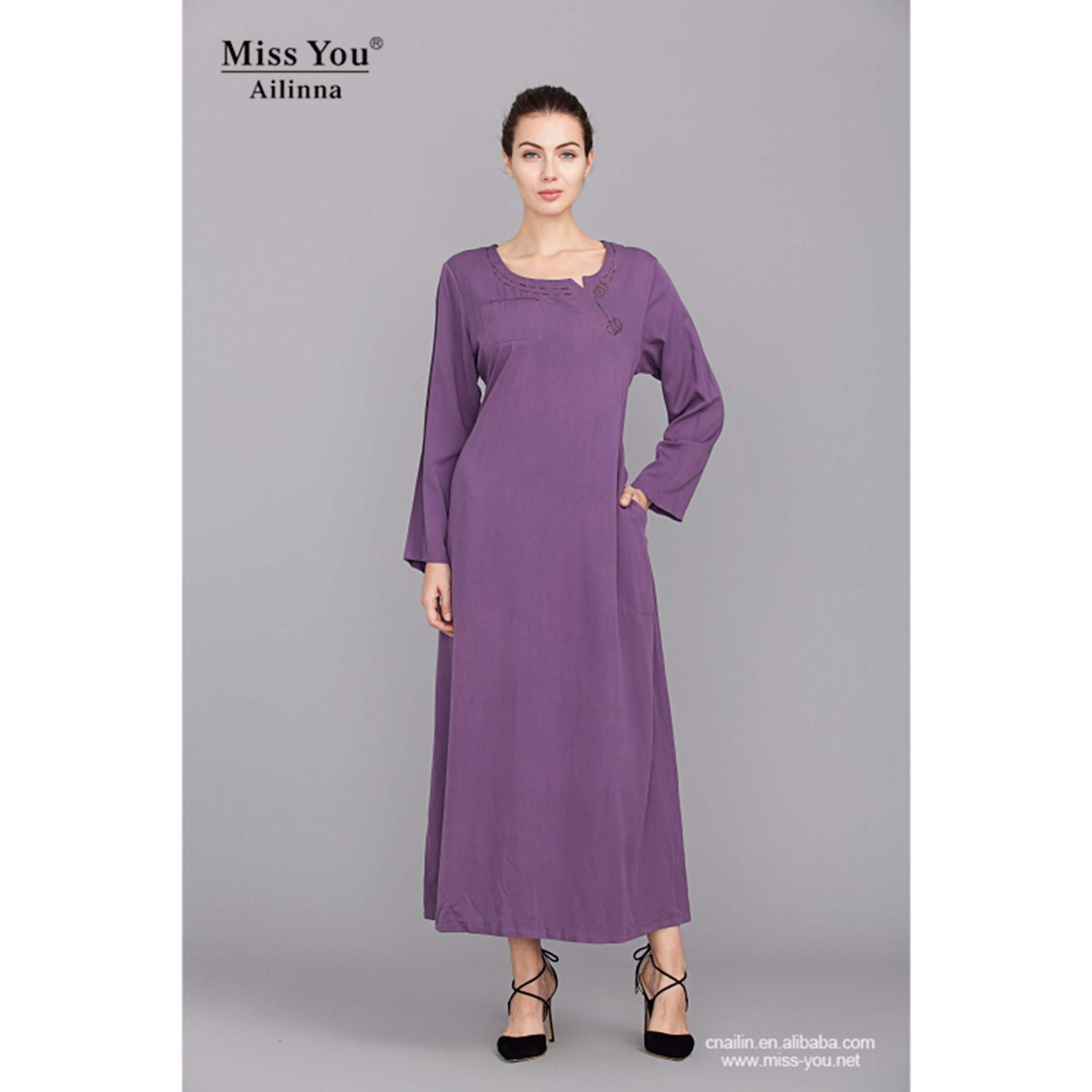 Miss You Ailinna 801738 Ladies Beautiful Elegant Chinese Style Long Dress