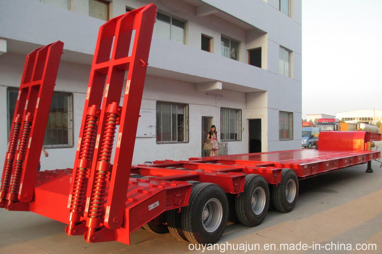 2 Axles Low Bed Vehiche Semitrailer