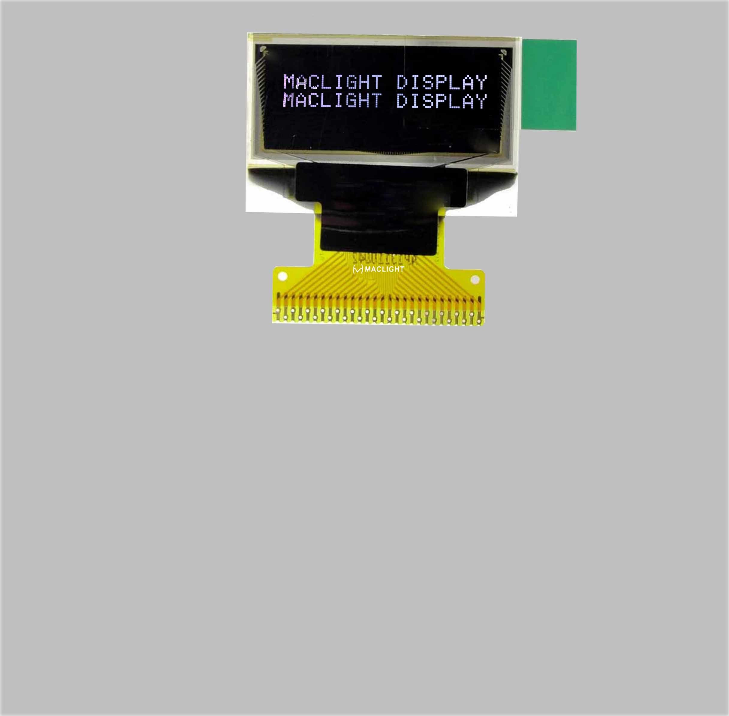 0.83 Inch OLED Display Module 96X39 Dots White Blue Color