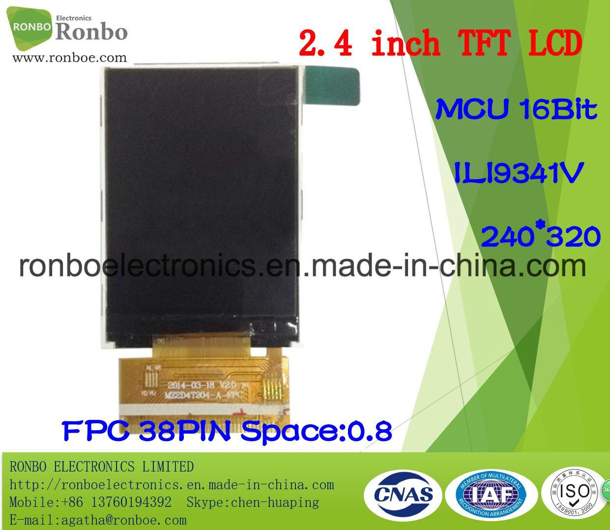 "2.4"" 240X320 MCU 16bit 38pin TFT LCD Module for POS, Doorbell, Medical"