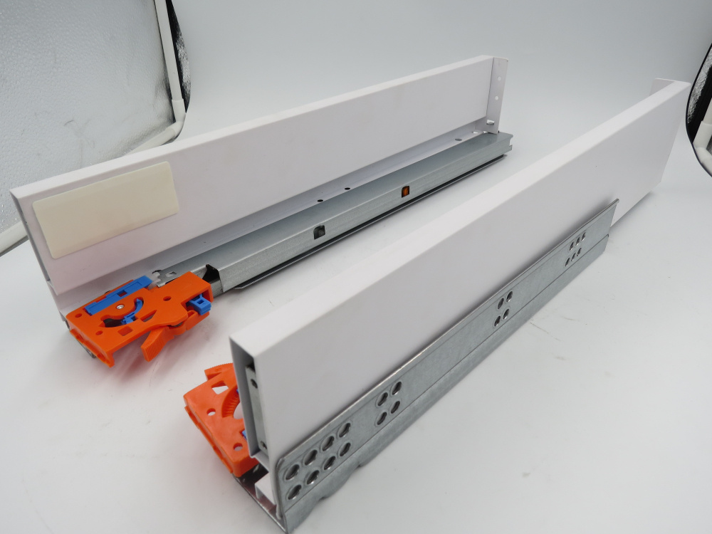 Soft Close Metal Box Drawer Slides Telescopic Channel