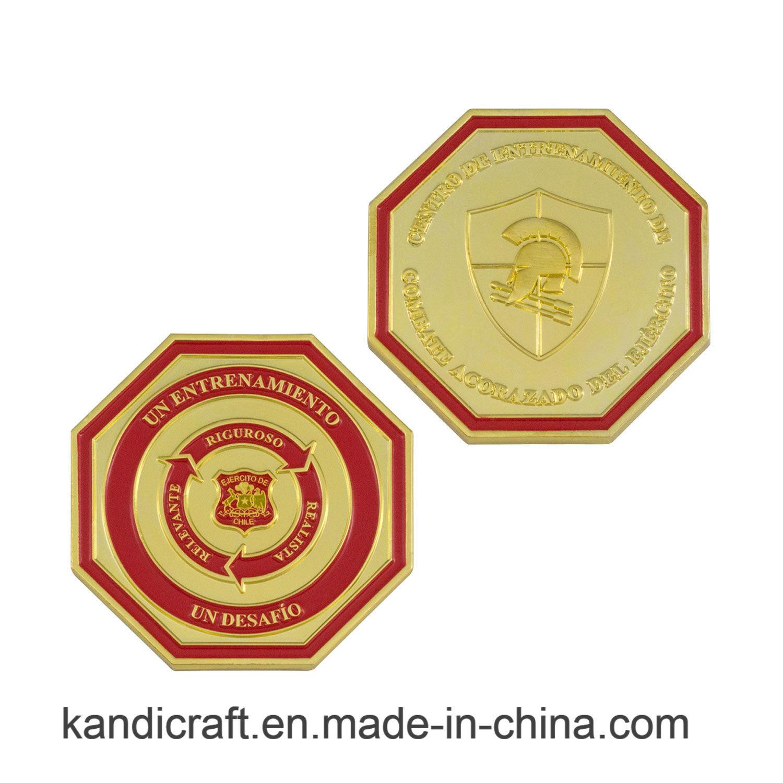 Wholesale Custom High Quality Diamond Edge Metal Coin