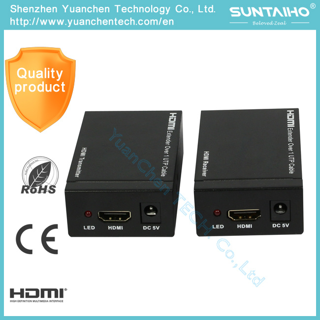 Support 3D 1080P 1.4V 60m HDMI Extender with IR