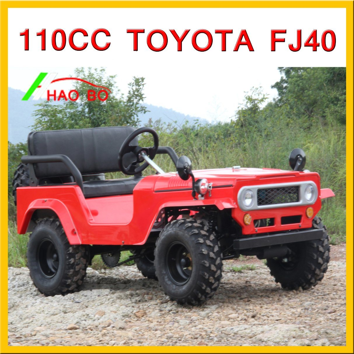 Red Color Land Cruiser 110cc 125cc 150cc 200cc ATV