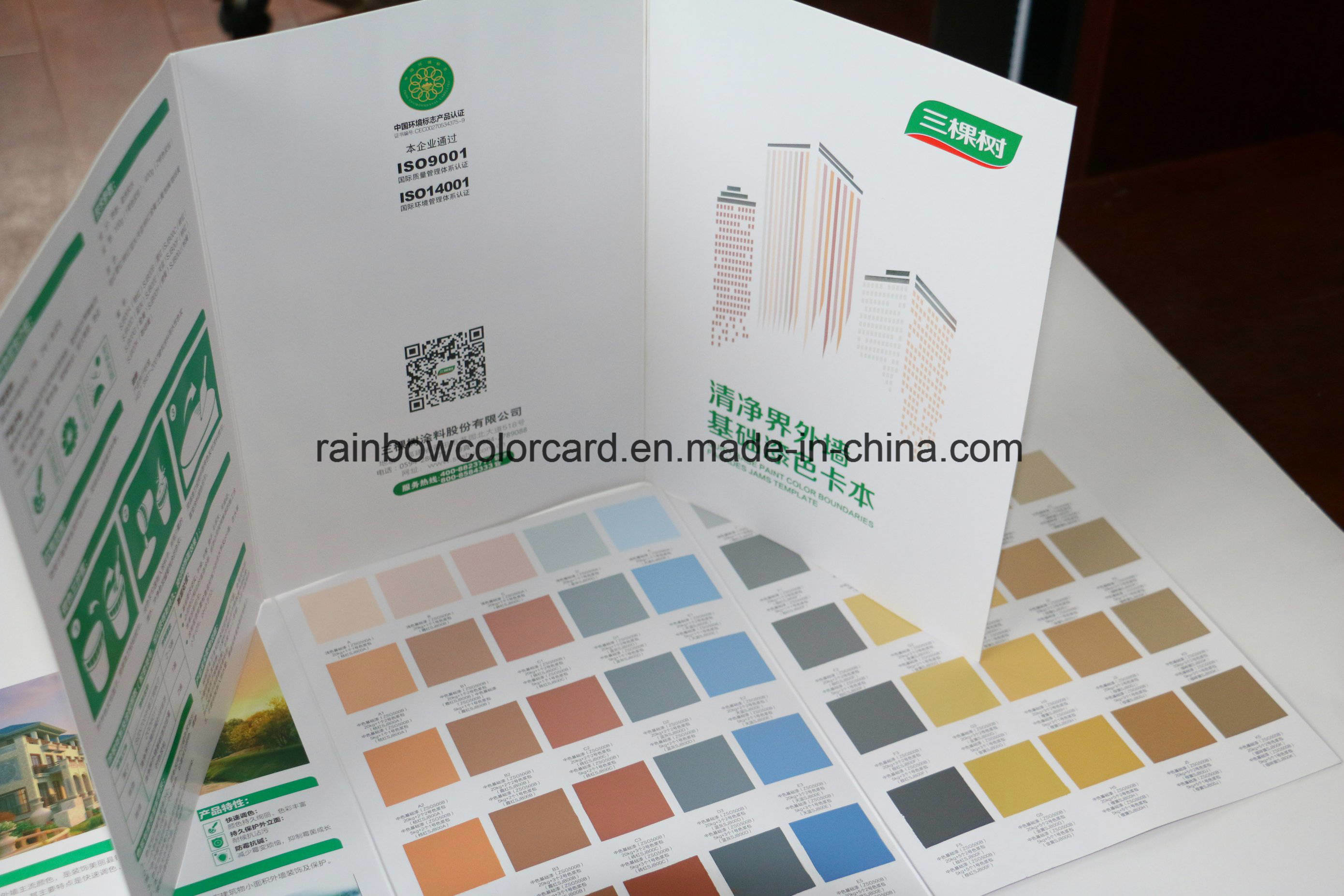 Color Card for Building Material Interior Paint