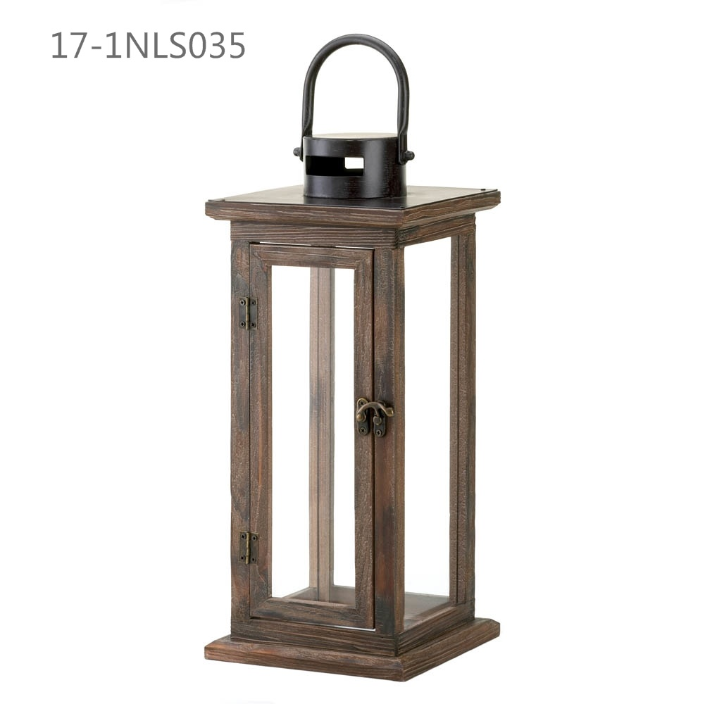 Oblong Antique Unique with Handle of Wooden Lanterns