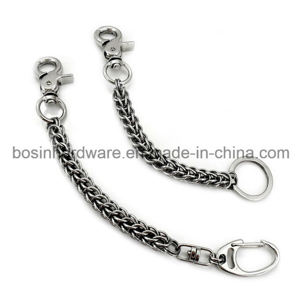 Metal Split Key Ring with Chain Accessories