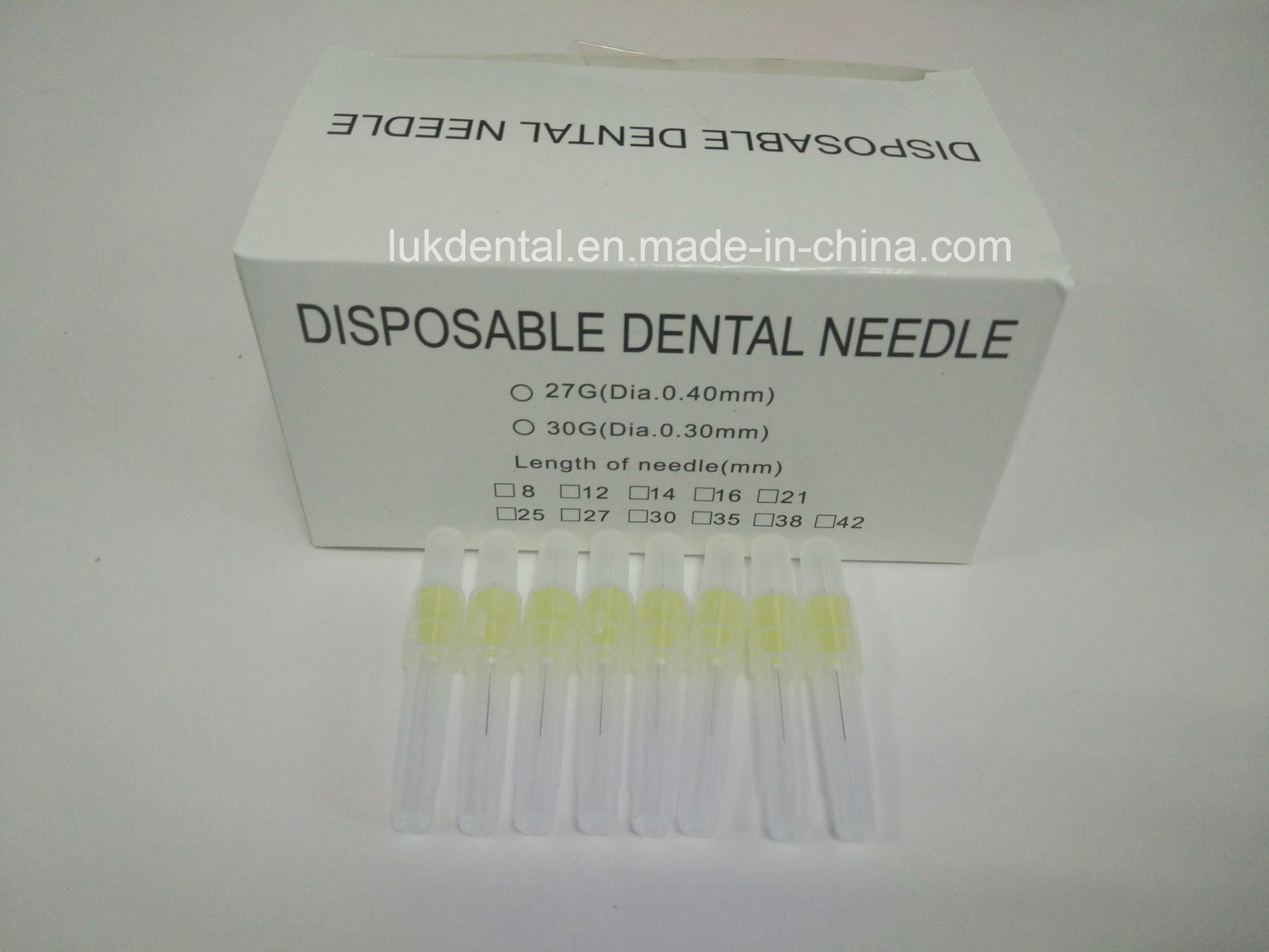 High Quality 25g, 27g, 30g Disposable Dental Needles for Dental Irrigation