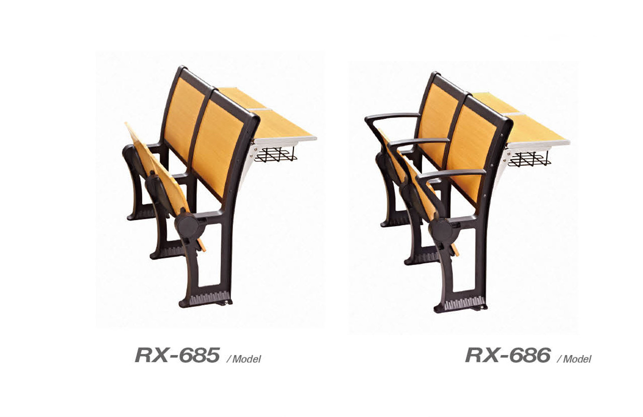 Fire-Proof Plate School Desk and Chair (RX-669)