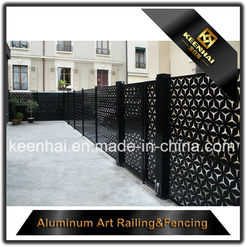 Laser Cut Metal Aluminum Garden Fence Panel for Decoration