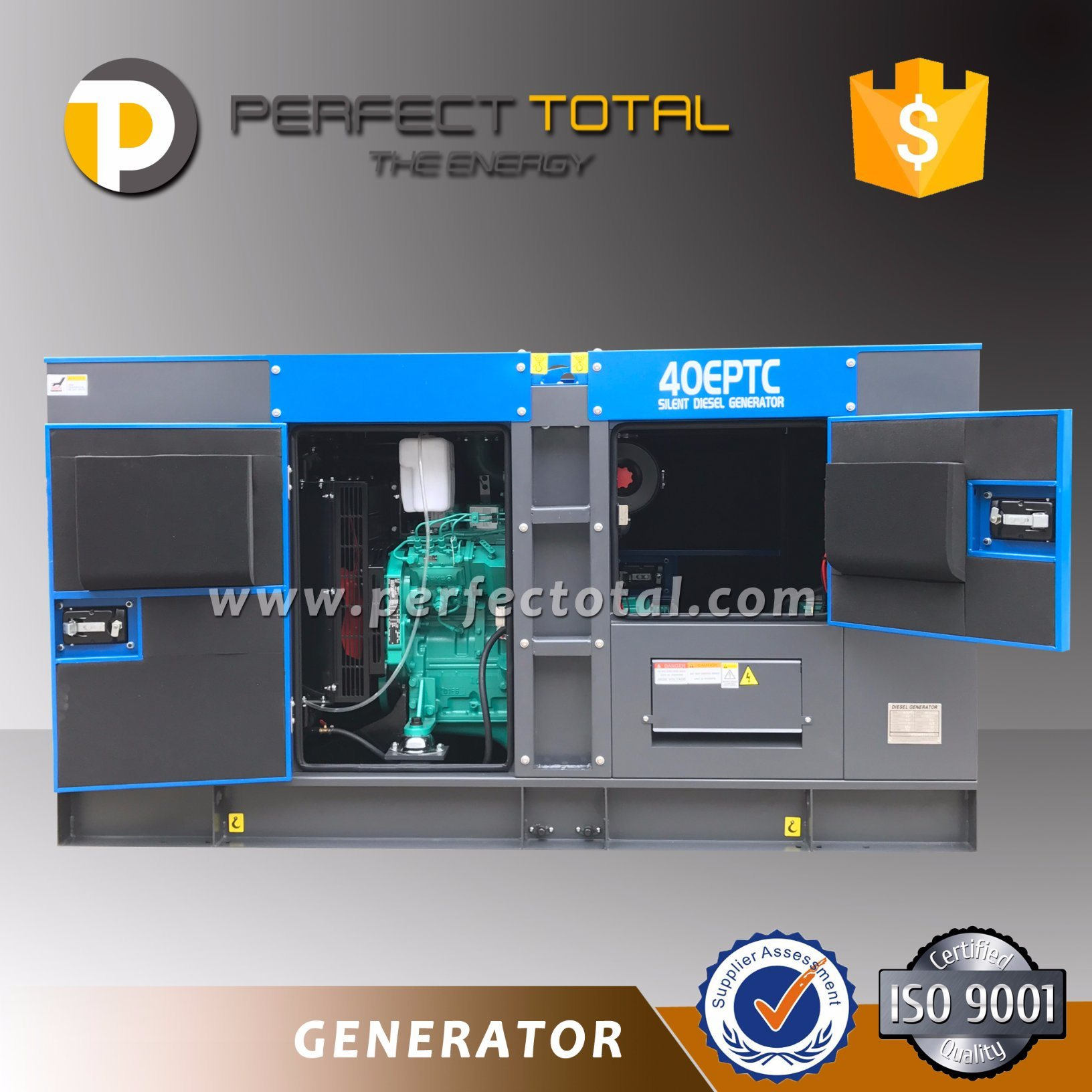 70kVA Cummins Engine Silent Diesel Generator Set