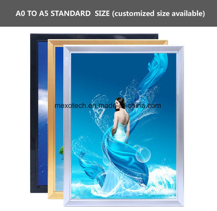 Single Sided Snap Frame LED Slim Light Box Poster Holder Display Board