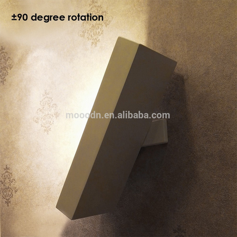 Modern Flexible Rotatable White Die Cast Aluminum Square Cube 20W Epistar COB LED Wall Lamp