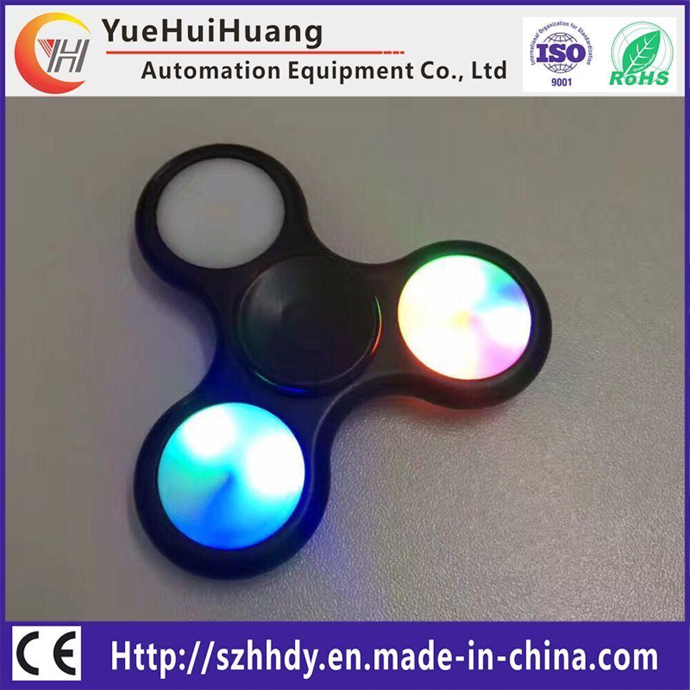 Clickable Button Chrome Steel Bearing LED Spinner LED Spinner Fidget