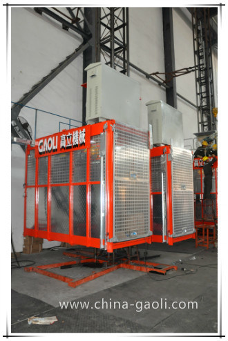 Gaoli Ce & GOST Approved Vertical Transportation Construction Hoist Sc100/100