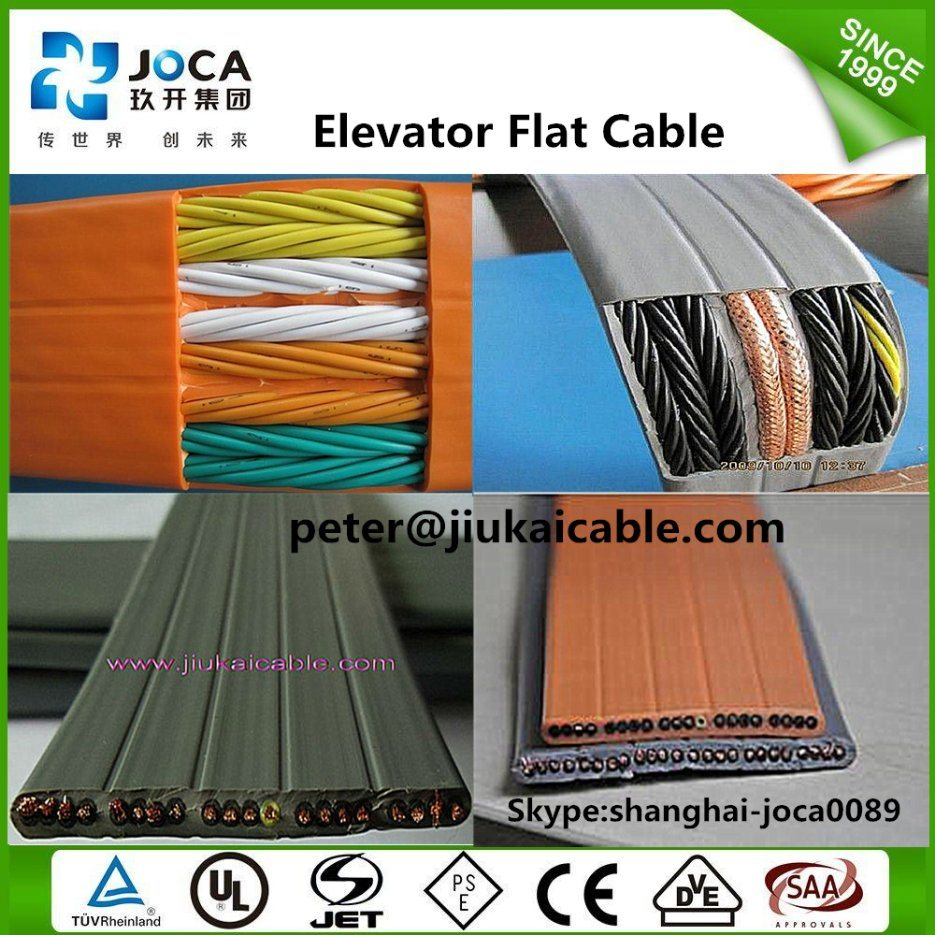 Tvvb Flat Elevator Lift Travelling Cable for Camera