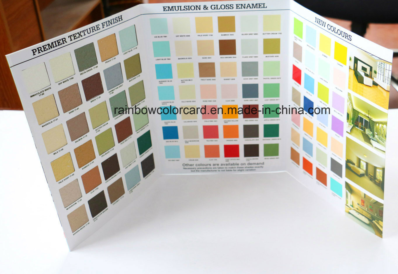 Special Texture outdoor Paint Color Card