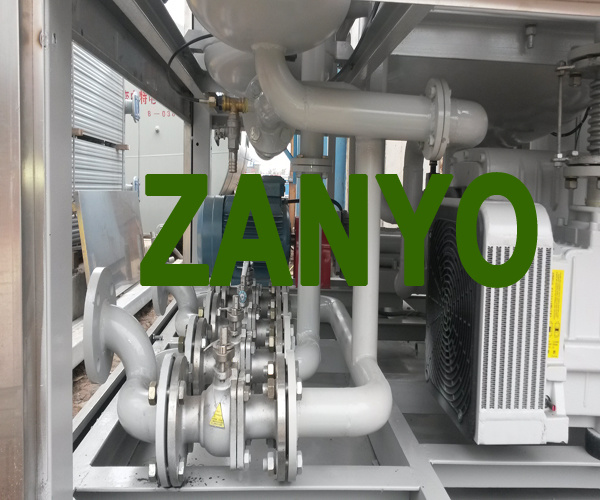 Zyd-I Transformer Oil Purifier Placed Horizontally, The Two Evaporation Chambers