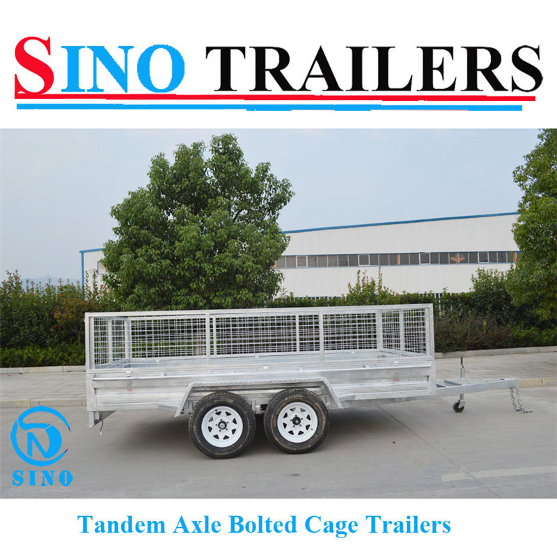 12*6 Heavy Duty Galvanized Box Cage Utility Trailer