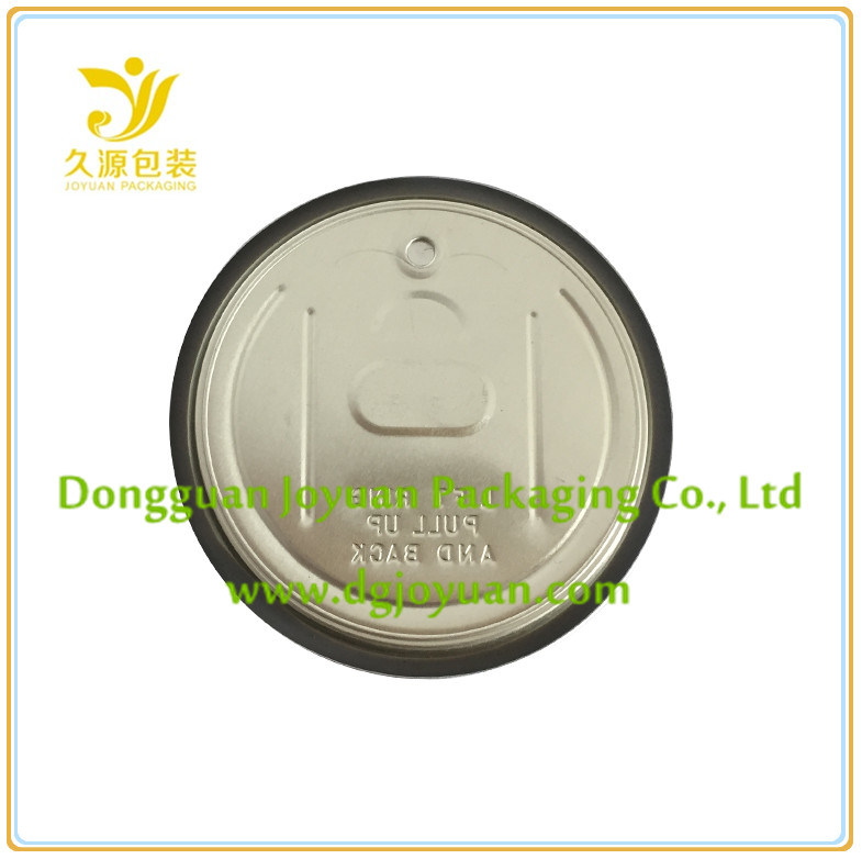 Aluminum Easy Open Tin Cover Eoe 307# Dia. 83.3mm