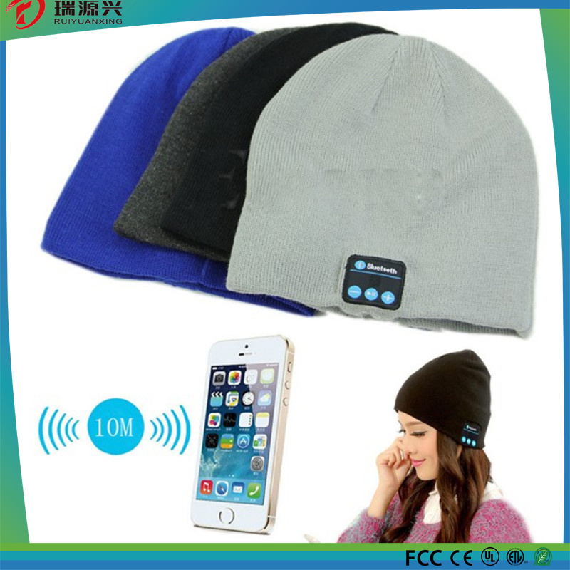 Warm Beanie Wireless Bluetooth hat Smart Cap with Headphone Headset Speaker