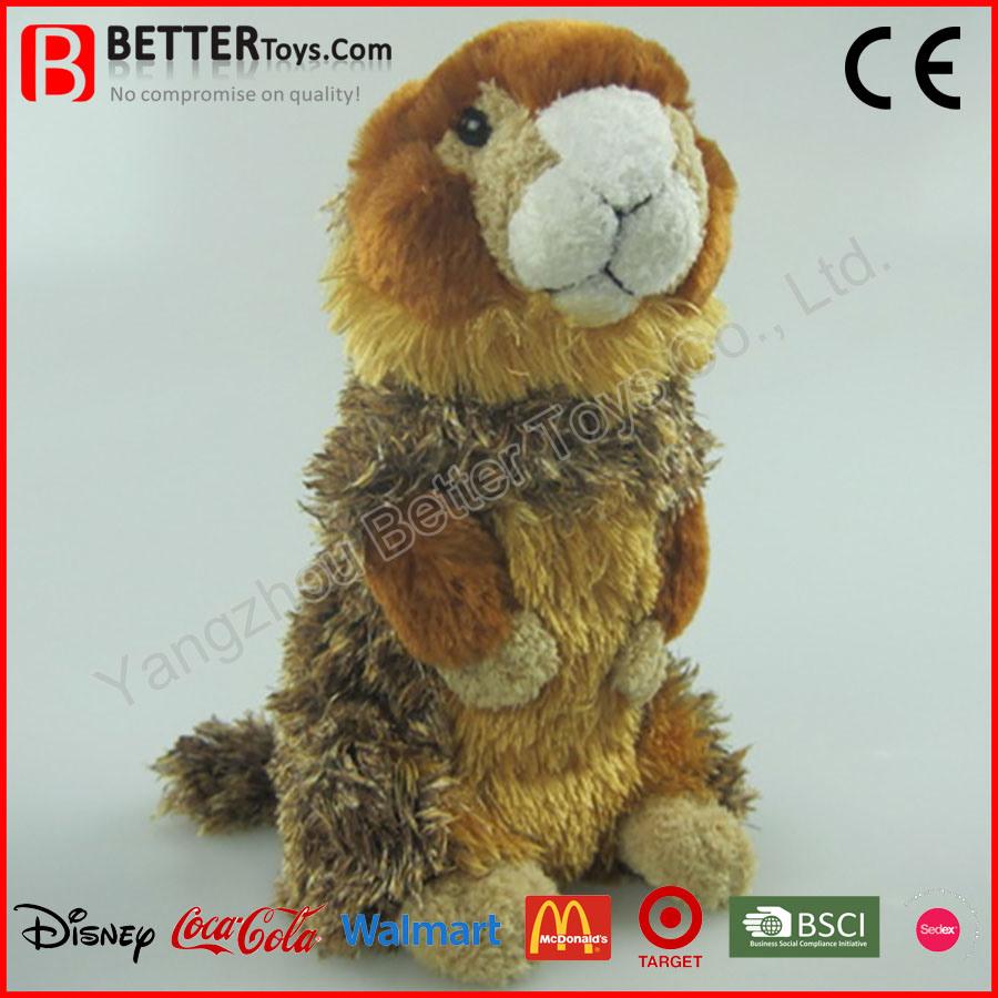 En71 Realistic Stuffed Animal Soft Marmot Plush Toy for Kids