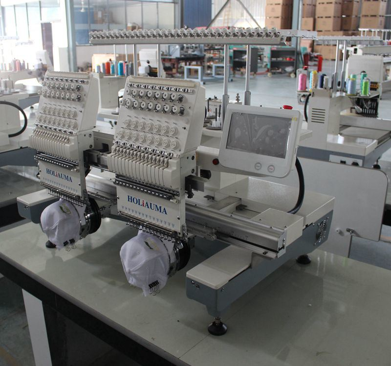 Electronic Industrial Embroidery Machines for Flat Garment 3D Cap Embroidery with Dahao Computer