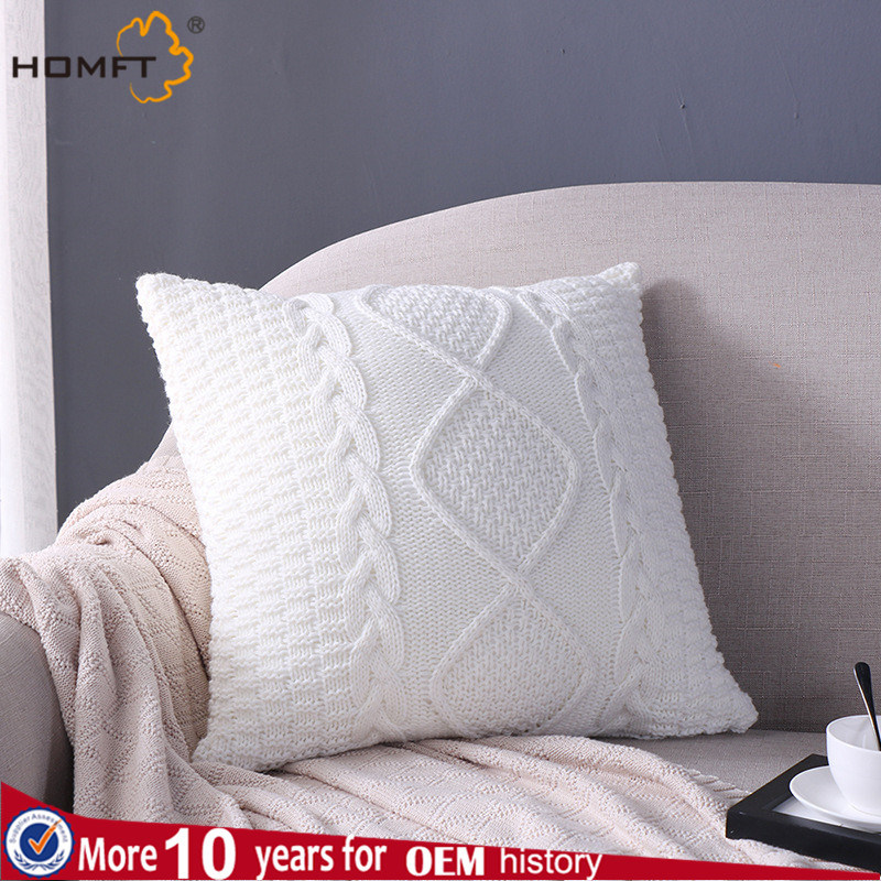Wool Knitting Sofa Cushion Pillow