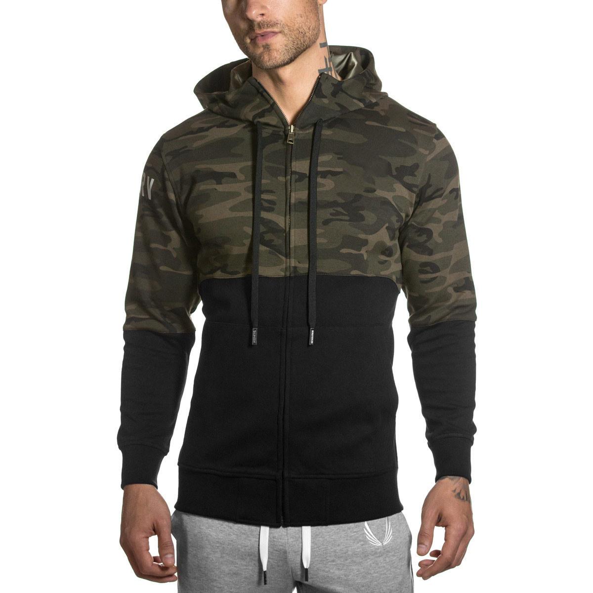 Fashion Mosaic 100% Cotton Hoodies for Men Sports Wear