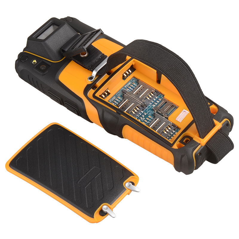 Android Rugged POS Terminal Handheld Barcode RFID Scanner with Camera Ts-901