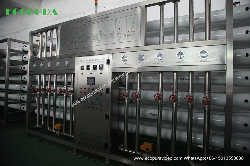 Reverse Osmosis Water Purification Plant / Water Treatment Machine