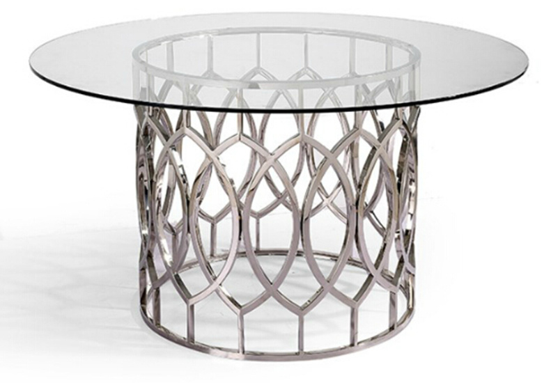 Stainless Steel+Tempered Glass Coffee&Console Table (GJ079)