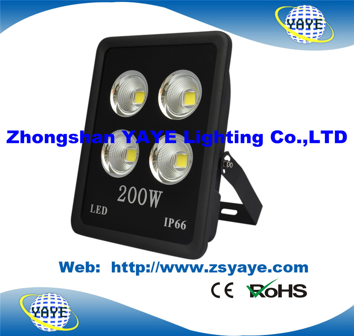Yaye 18 Ce/RoHS/ 3 Years Warranty COB 200 LED Flood Light/ 200W COB LED Tunnel Light with 24000lm