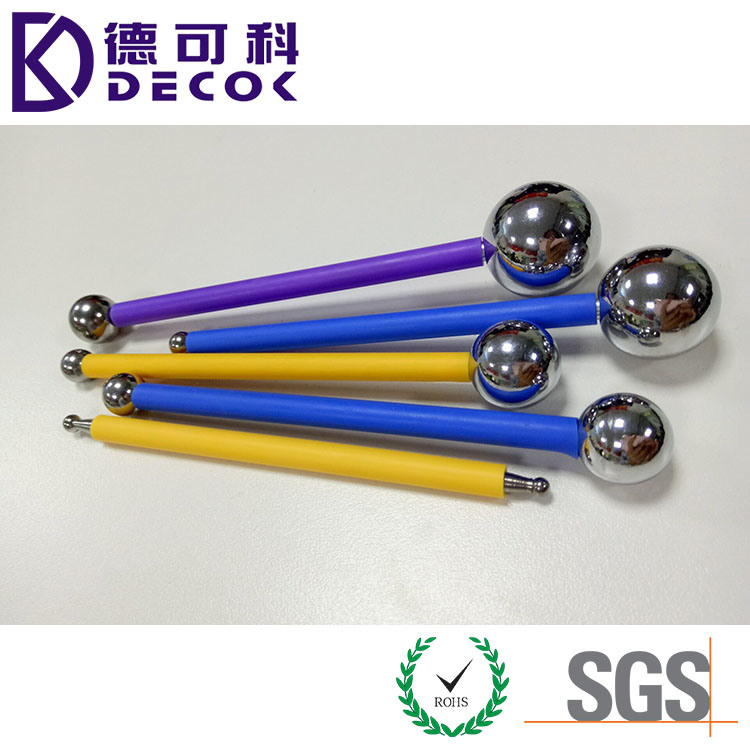 4 PCS Highly Polished Metal Ball Tools Set, Stainless Steel Cake Decorating Modeling Metal Ball Fondant Tool