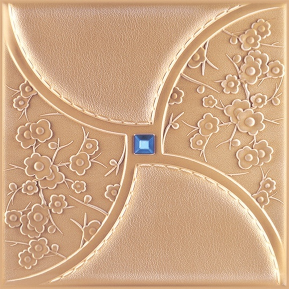3D PU Leather Wall Panel 1053-3 for Modern Interior Decoration