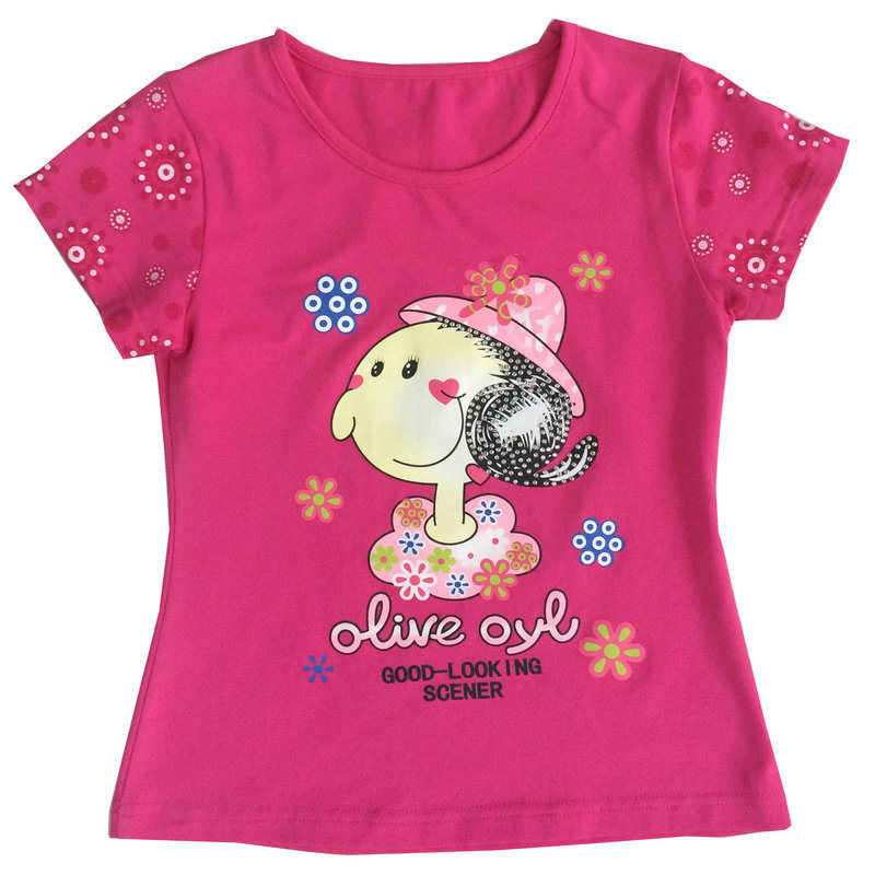 Fashion Flower Girl Baby Clothes in Children Kids T-Shirt with Printingsgt-080