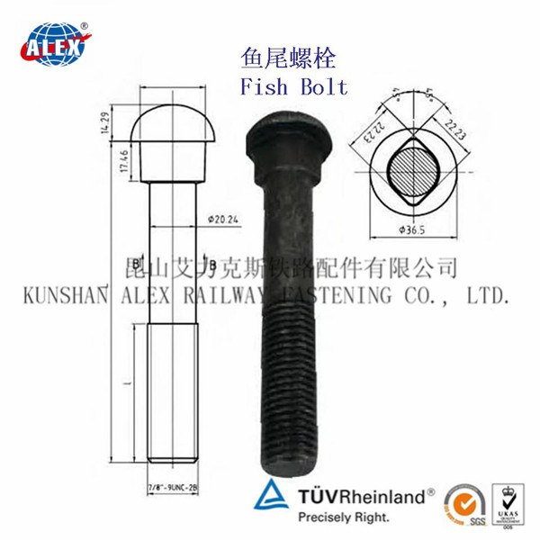 Fish Bolts with Oval Neck Round Head