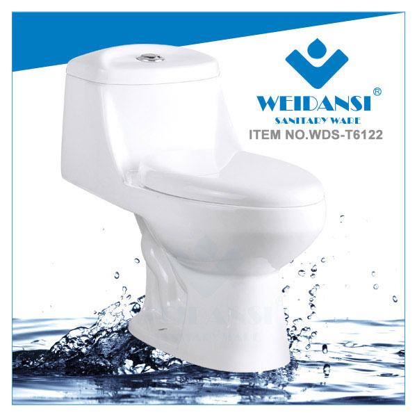Weidansi Ceramic Siphonic S-Trap One Piece Toilet (WDS-T6122)