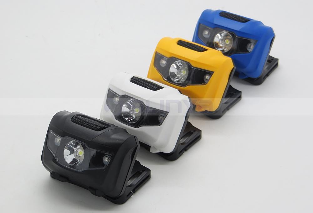 Waterproof 400 Lumens 3W LED Color Mini Red White Sos Cap Lamp Headlight Headlamp Head Lamp (1118b)