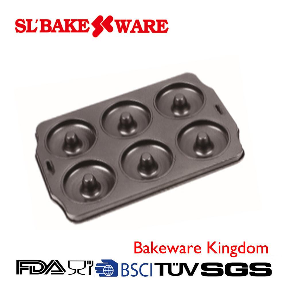 6 Cup Dount Pan Carbon Steel Nonstick Bakeware (SL-Bakeware)