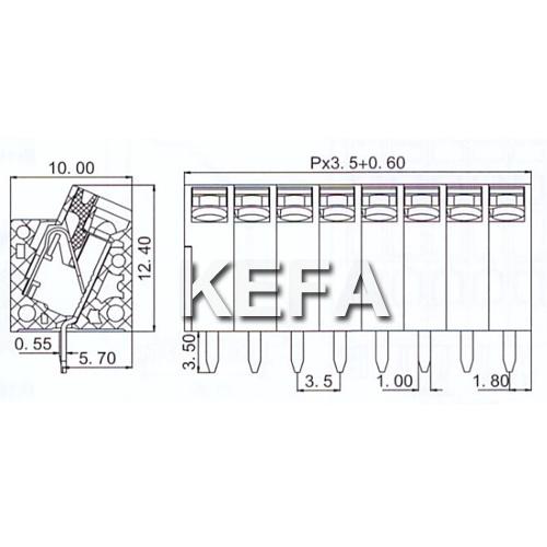 PCB Spring Terminal Block Kf250nh