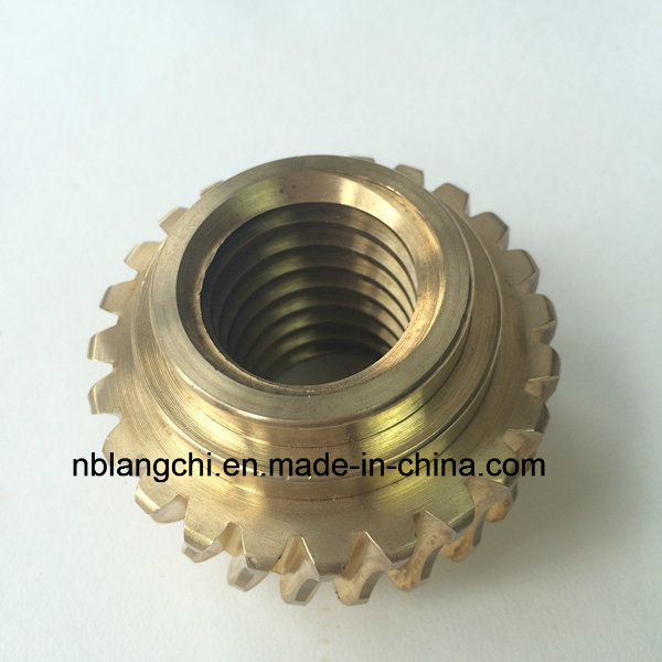 High Precision Customized Trapezoidal Aluminum Bronze Worm Wheel Nut Tr40X7