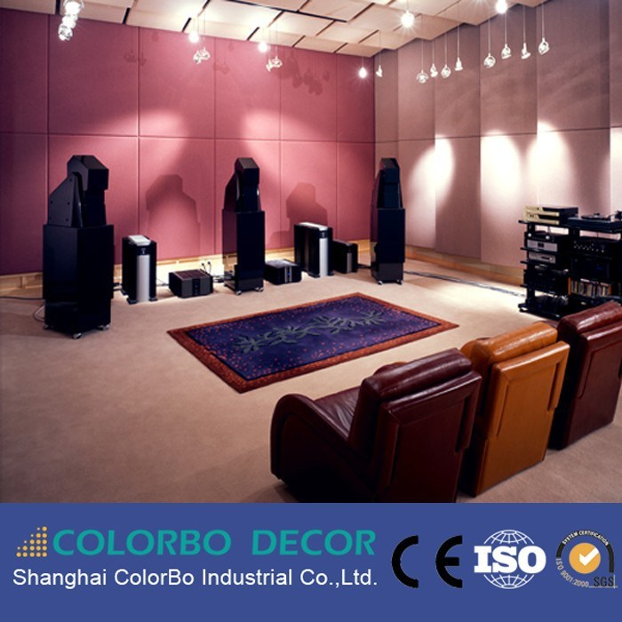 Using for Auditorium Decorative Wall Covering Leather Fabric Acoustic Panel