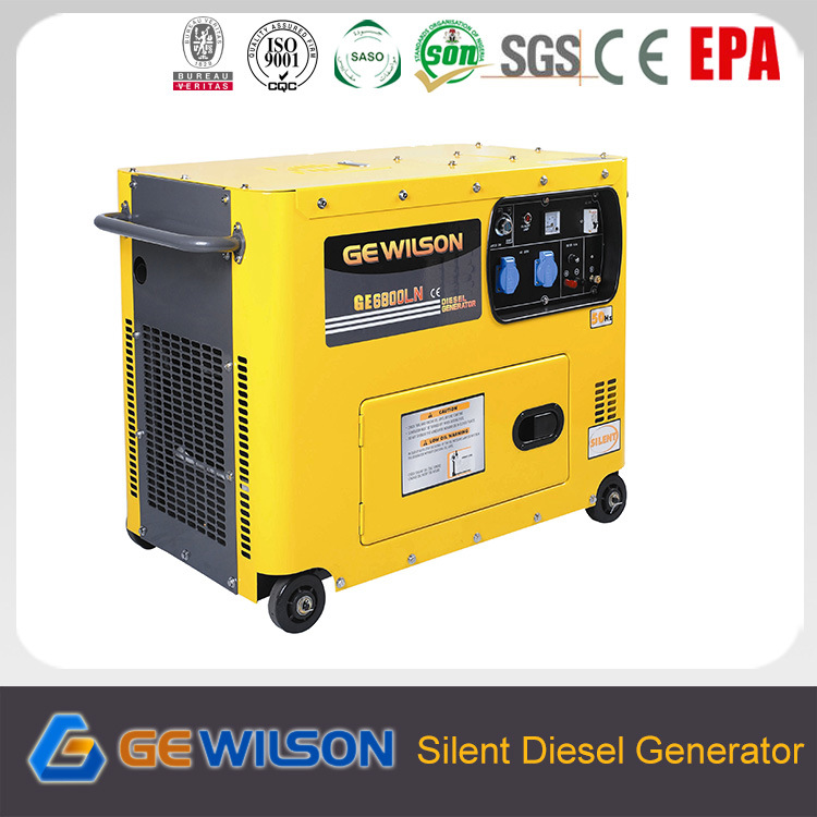 6kw Silent Genset with Diesel Engine