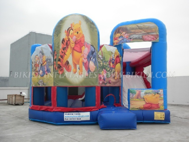Inflatable 5 in 1 Snow Themed Playhouse, Inflatable Bouncer