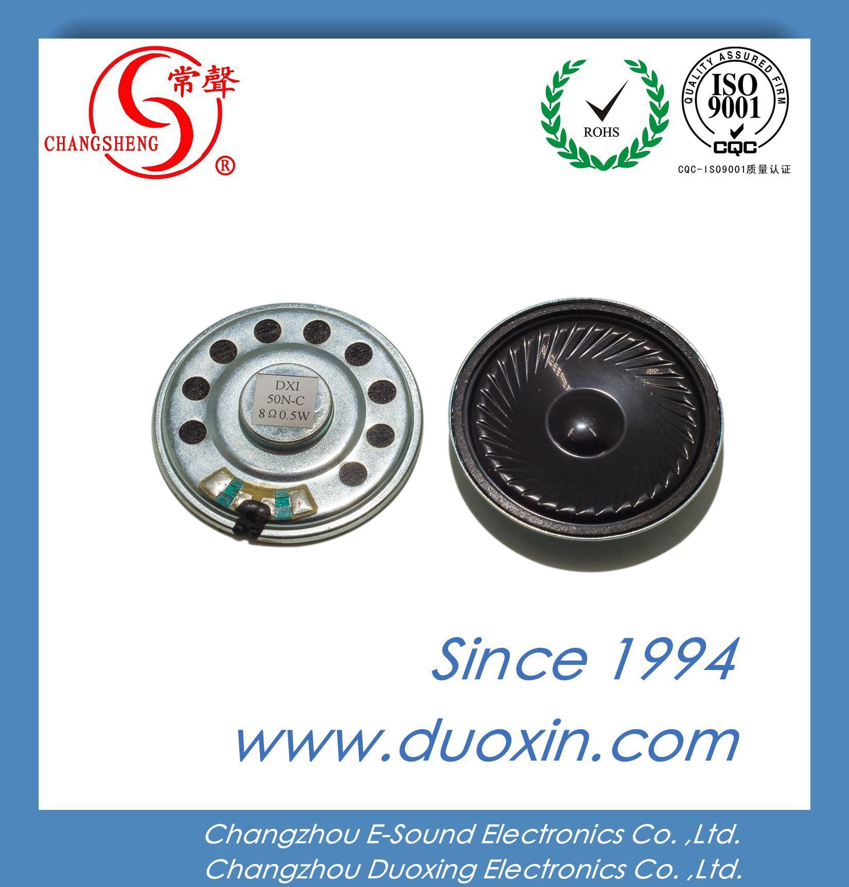 50mm 8ohm 1W Mini Waterproof Mylar Car Loudspeaker Dxi50n-C