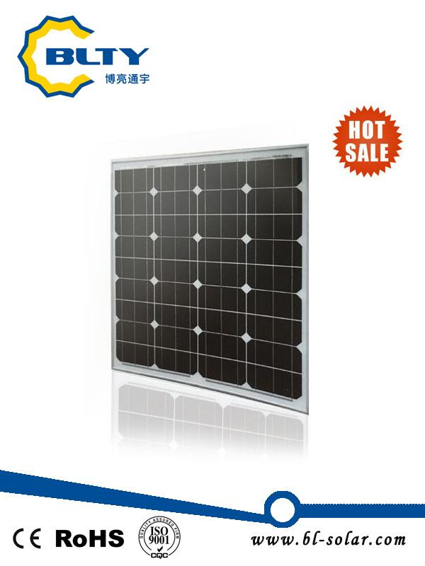 75W Monocrystalline Solar Panels Photovoltaic Solar Modules for Home System