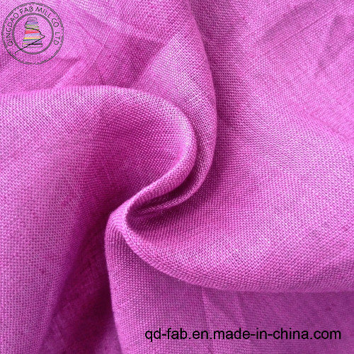 100%Linen Dyed Shirt Fabric (QF13-0246)