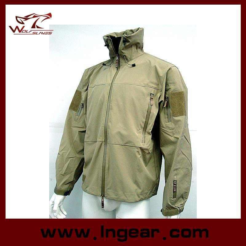 Military Winter Jacket Men′s Coat Motorcycle Sharkskin Jacket